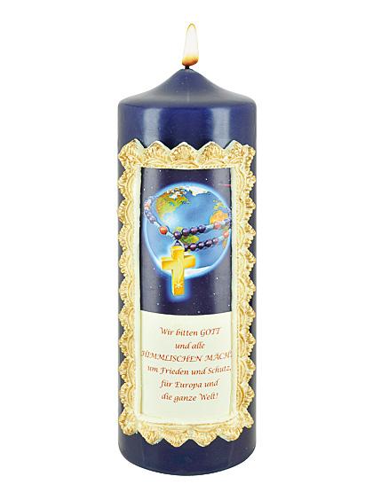 Europa-Gebetskettenkerze