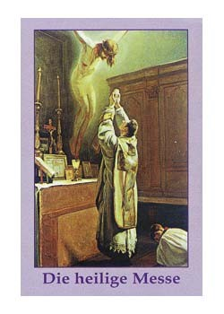 Die heilige Messe-Gebetszettel