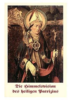 Die Himmelsvision des hl. Patrizius-Gebetszettel