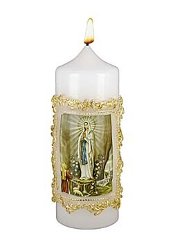 Lourdes Madonna-Kerze
