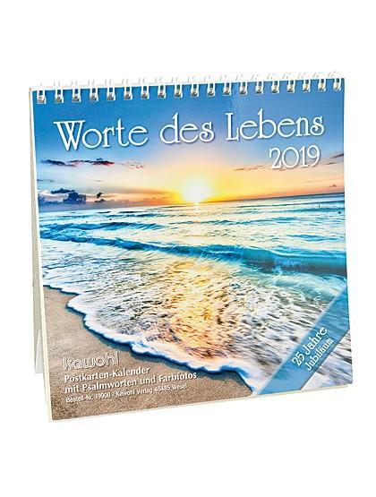 """Worte des Lebens"" Postkarten-Kalender - 2019"