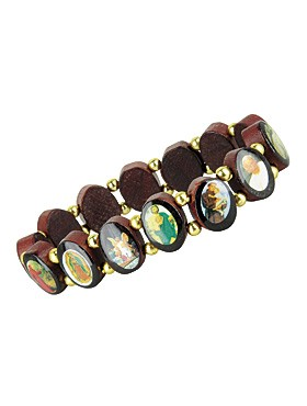 Armband mit Heiligenbildern oval