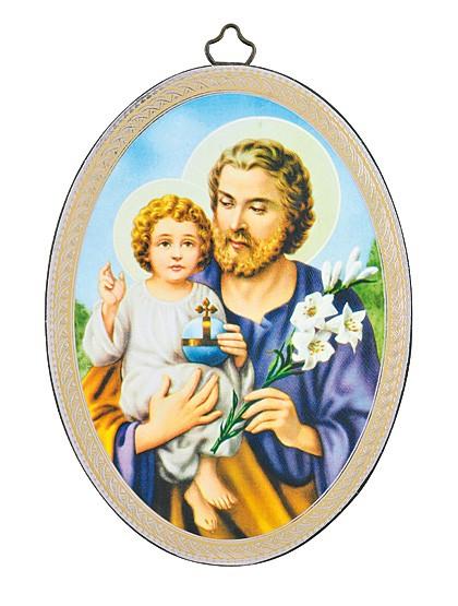 Hl. Josef mit Jesuskind – Bild-Ikone