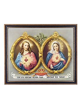 Herzen Jesu und Maria-Bild