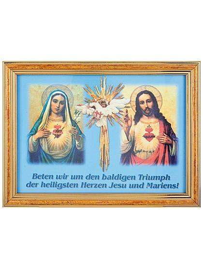 Heiliges Herz Jesu und Marien-Bild