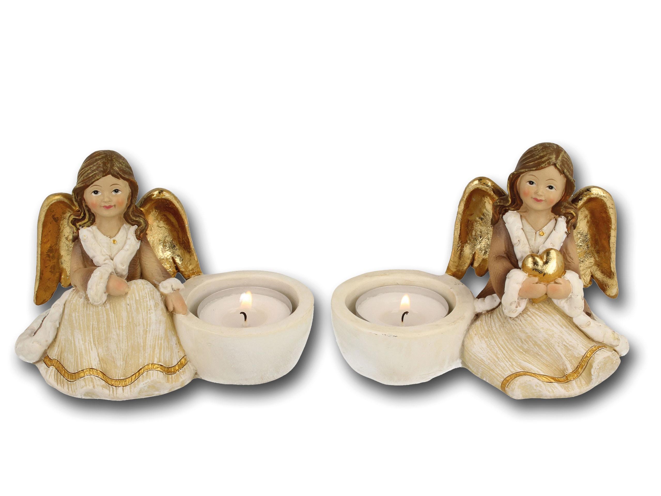 Engel-Teelichthalter