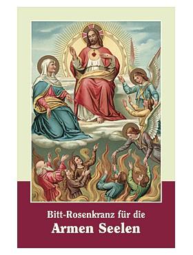 Bitt-Rosenkrank für die Arme Seelen-Gebetszettel