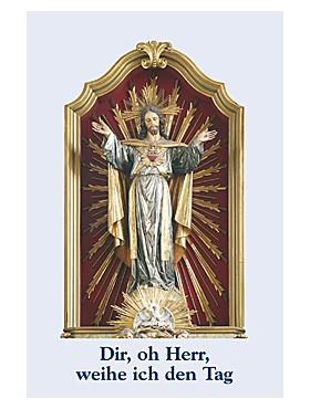 Dir, oh Herr, weihe ich den Tag-Gebetszettel