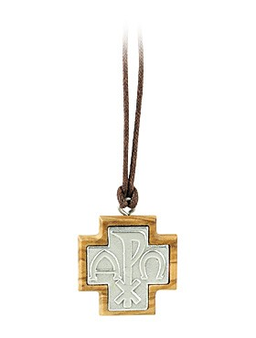 Anhänger Kreuz, aus Olivenholz