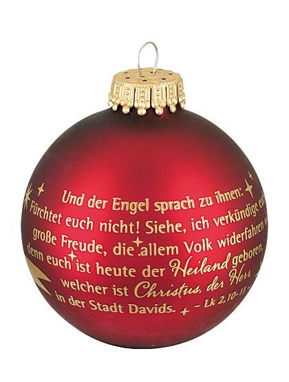"""Christbaumkugel – """"Und der Engel sprach..."""""""