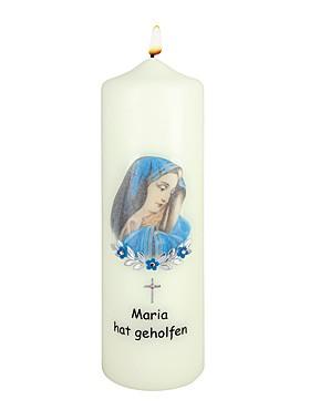 Maria hat geholfen-Kerze