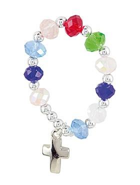 10er Rosenkranz mit bunten Glasperlen