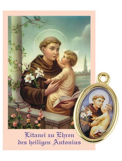 Hl. Antonius-Medaille mit Gebetszettel