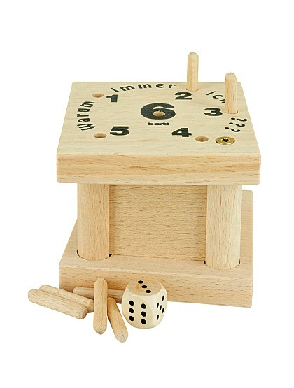 Würfelspiel aus Holz