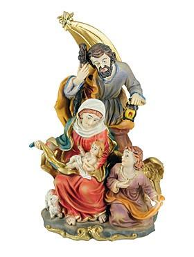 Heilige Familie mit Engel-Statue