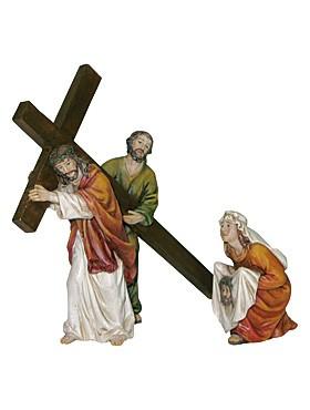 Jesus der Kreuzesträger - Statue