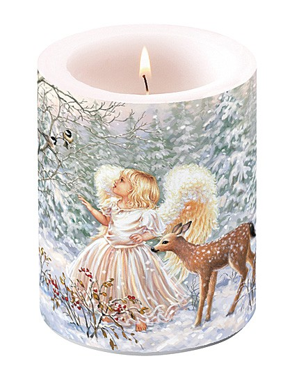 Kerze mit Winterlandschaft