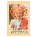 Zum göttlichen Kinde-Gebetszettel