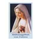 Sühnegebet von Fatima-Gebetszettel