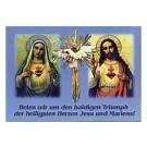 Herz Maria und Jesu-Karte